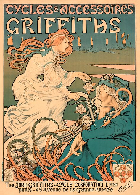 Griffiths Cycles & Accessories Bicycle Poster by H Thiriet