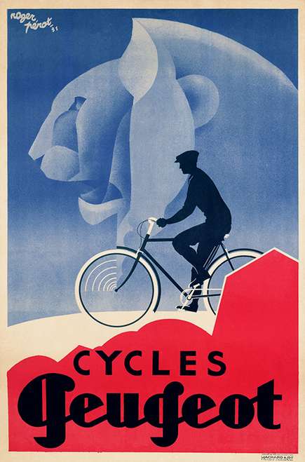 Cycles Peugeot - Art Deco Bicycle Poster