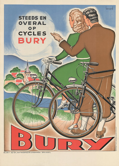 Bury Cycles Vintage Bicycle Poster Print