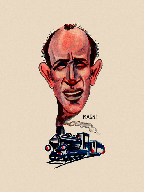 Fiorenzo Magni Champion Italian Cyclist Bicycle Poster