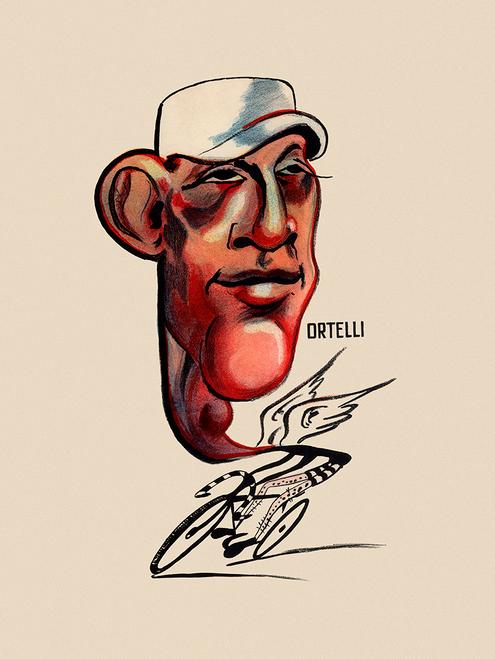 Vito Ortelli  Italian racing cyclist Bicycle Poster