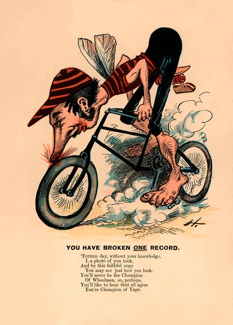 Champion of Yaps American anti-cycling satirical poster
