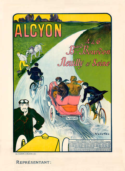 Alcyon Vintage Bicycle Poster Prints by Gautier
