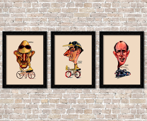 Coppi - Bartali - Magni - The golden era of Italian Cycling Posters