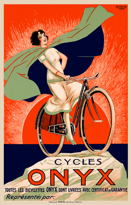 Cycles Onyx Bicycle Poster