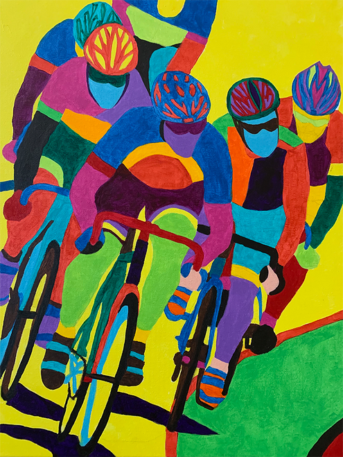 Final Turn  - Velodrome Art by Sandra Wright Sutherland
