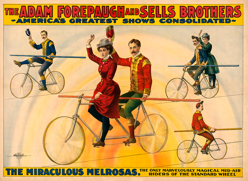 High Wire Bicycles Forepaugh Bicycle Circus Poster