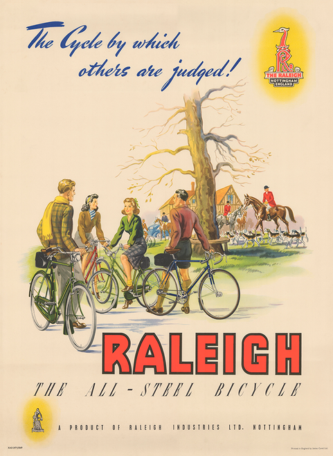 Raleigh The All Steel Bicycle Poster Print