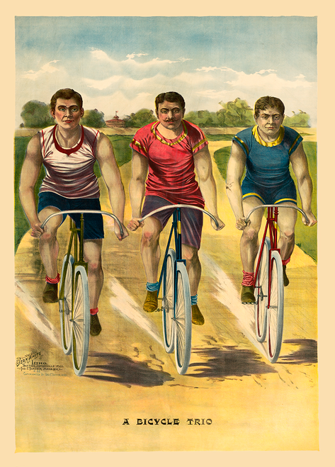 A Bicycle Trio Vintage Poster Prints
