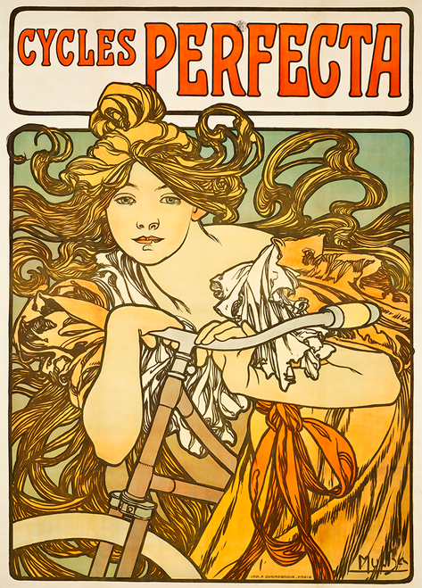 Cycles Perfecta Bicycle Poster Prints by Mucha