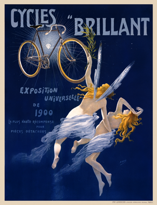 Cycles Brillant Bicycle Poster
