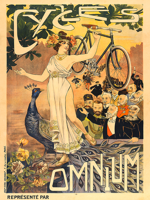 Cycles Omnium Bicycle Poster