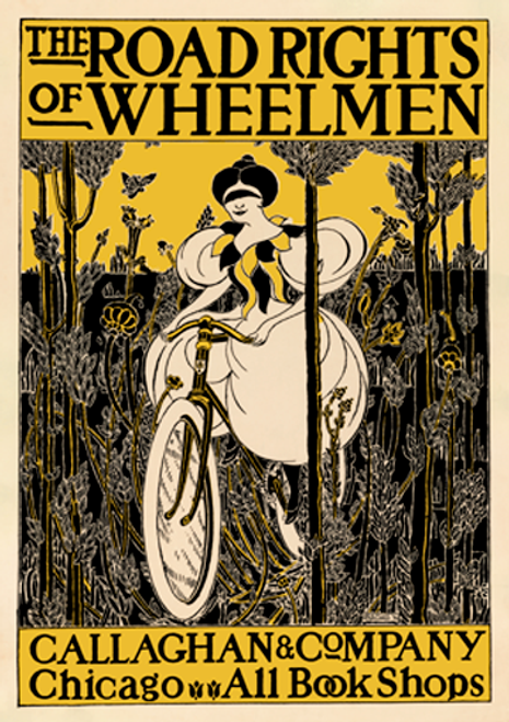 The Road Rights of Wheelmen Bicycle Poster