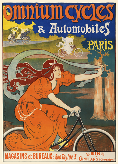 Omnium Cycles Bicycle Poster