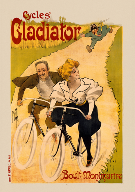 Cycles Gladiator Bicycle Poster