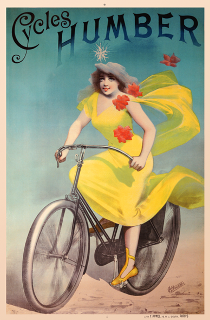 Cycles Humber Bicycle Poster
