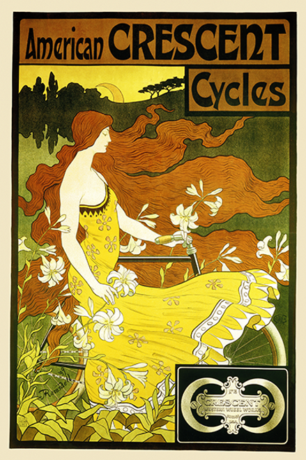 American Crescent Cycles Bicycle Poster