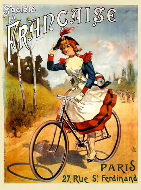Societe La Francaise Bicycle Poster by PAL