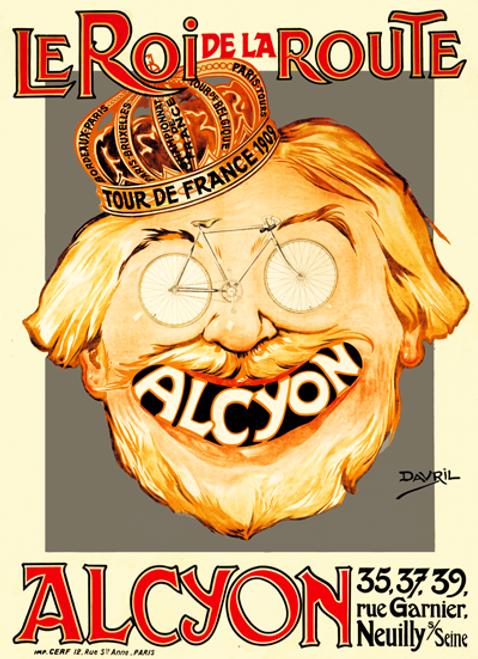 Le Roi de La Route Alcyon Bicycle Poster