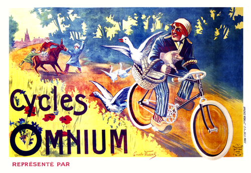 Cycles Omnium Bicycle Poster by Vidal