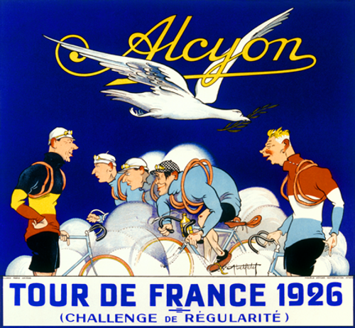 Alcyon TDF 1926 Bicycle Poster