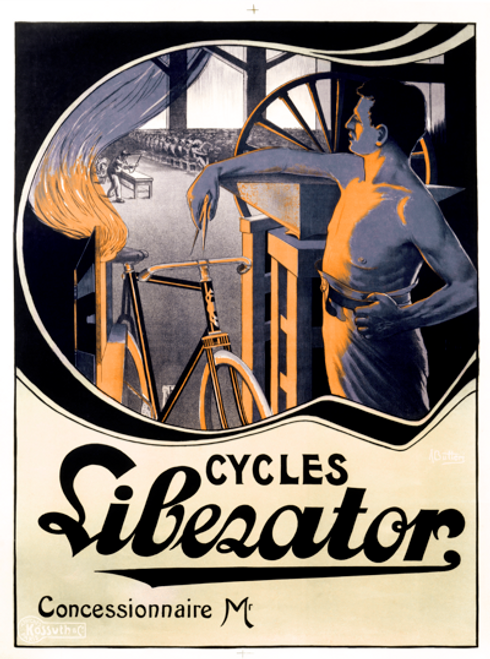 Cycles Liberator Bicycle Poster