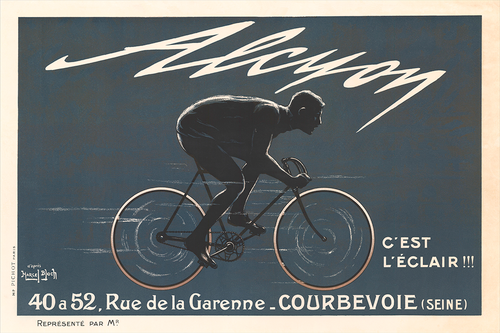 1909 Alcyon Fine Art Bicycle Poster Print