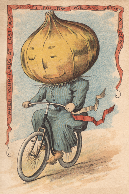 Onion Vegetable Rider Bicycle Poster