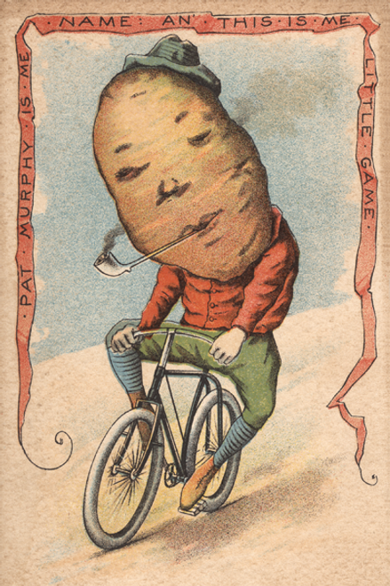 Potato Vegetable Rider Bicycle Poster