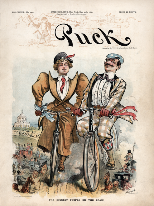 Puck Magazine - May 20, 1896  Bicycle Poster