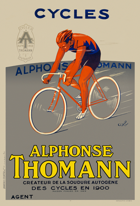 Cycles Alphonse Thomann Poster