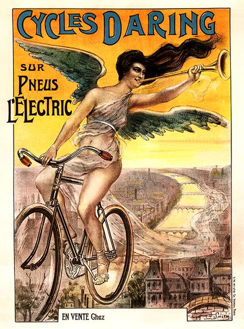 Cycles Daring Bicycle Poster