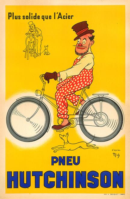 Pneu Hutchinson Bicycle Poster
