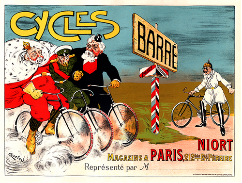 Cycles Barre Vintage Bicycle Poster