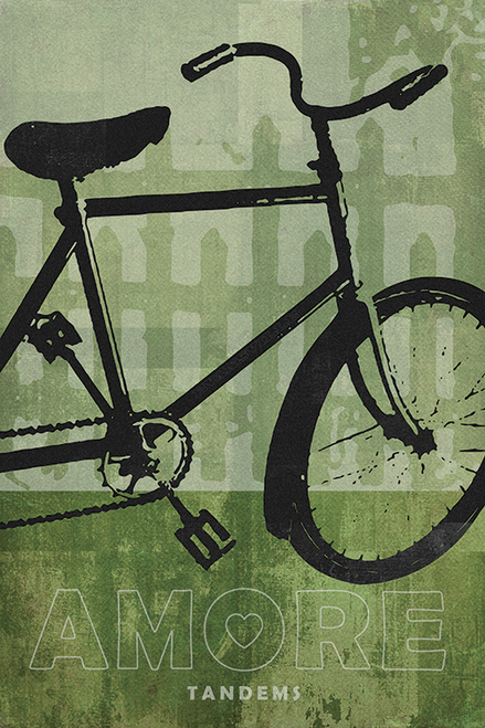 Tandem Amore Right Bicycle Poster by John Evans
