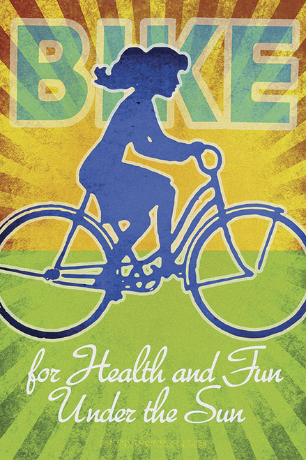 Bike for Health and Fun Bicycle Poster by John Evans