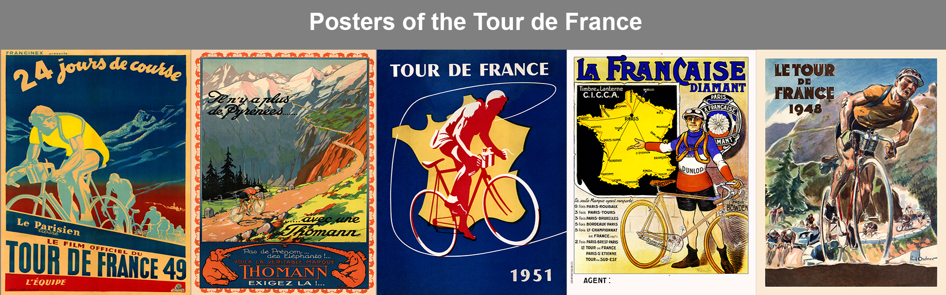 Posters of the Tour de France