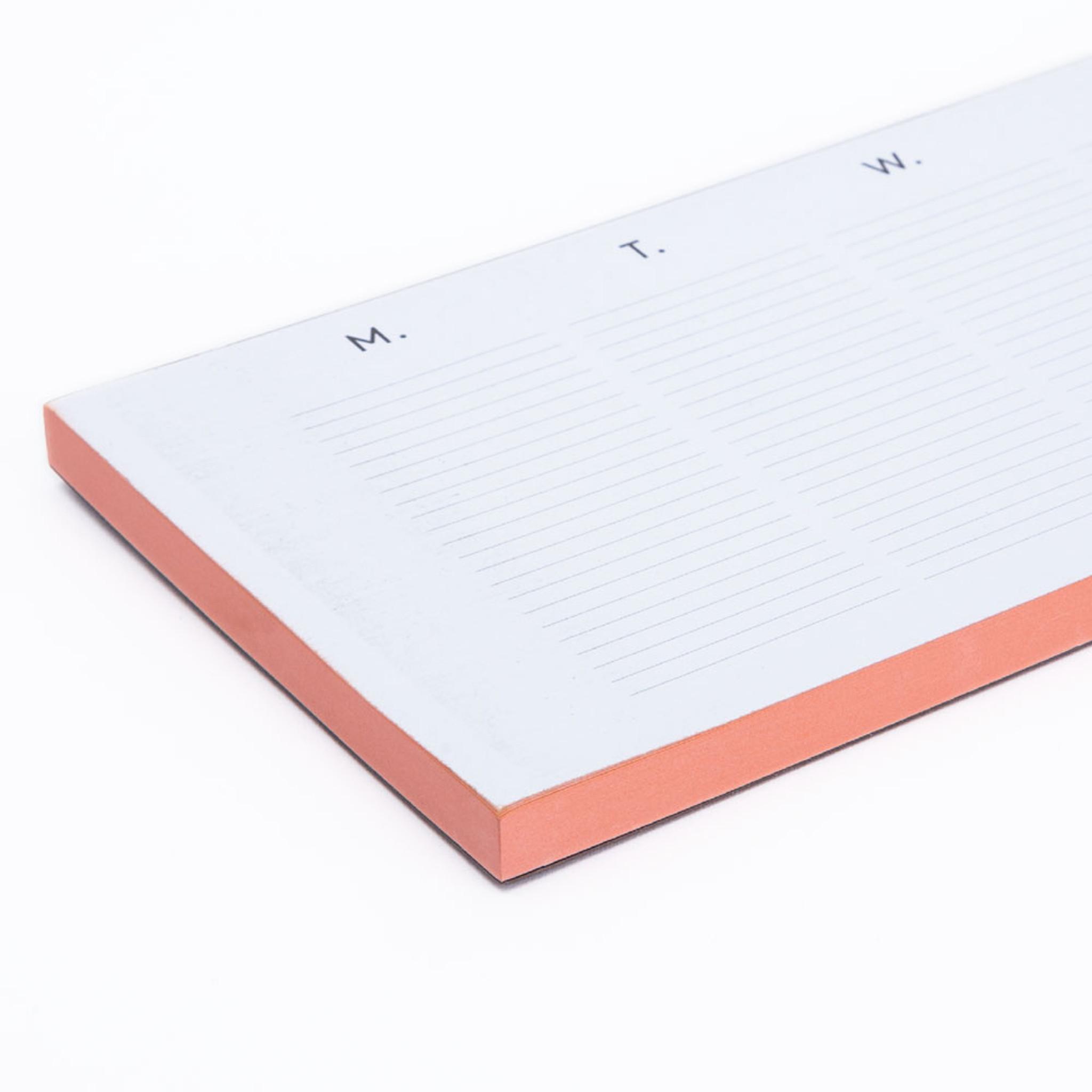 Pink Edged Weekly Planner Desk Pad By Wms Co Fieldshop By Garden Gun