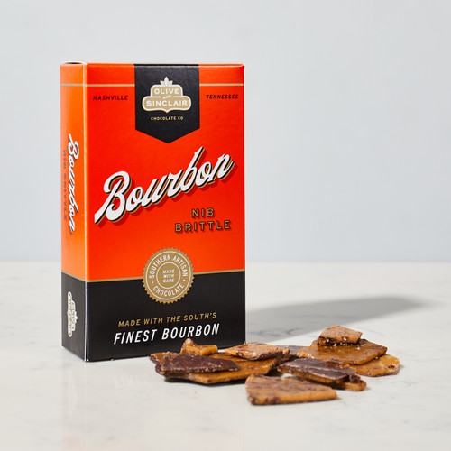 Bourbon Nib Brittle by Olive & Sinclair Chocolate Co.