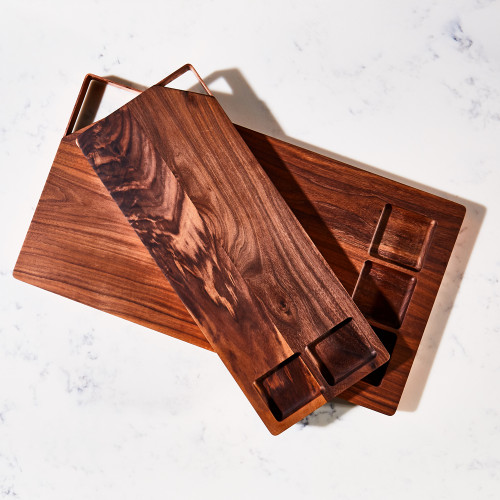 Walnut & Copper Rectangular Serving Board by Meadors Inc.