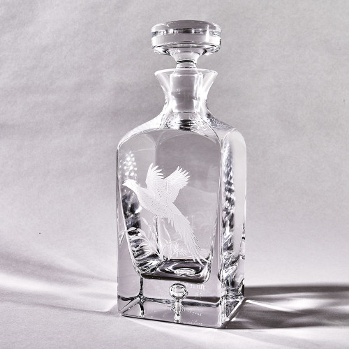 Crystal Pheasant Decanter by Julie Wear