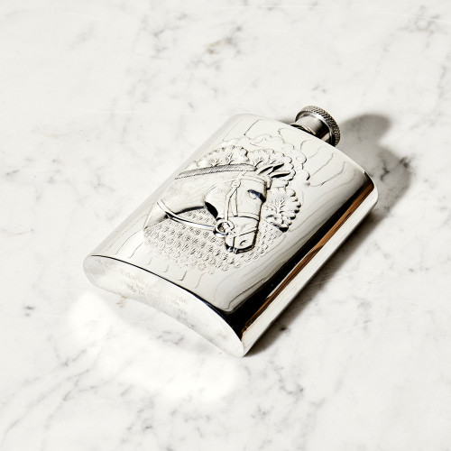 Pewter Horse Head Flask by Corbell Silver