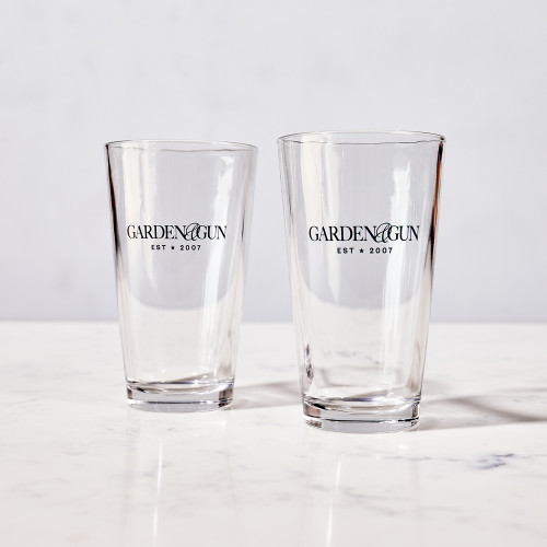 Pint Glass by Garden & Gun