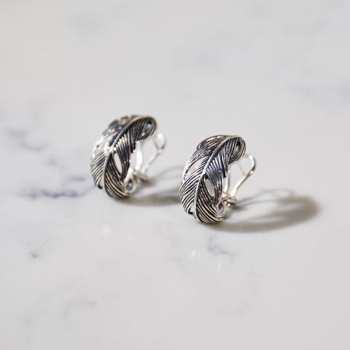 Wide Feather Earrings by Grainger McKoy
