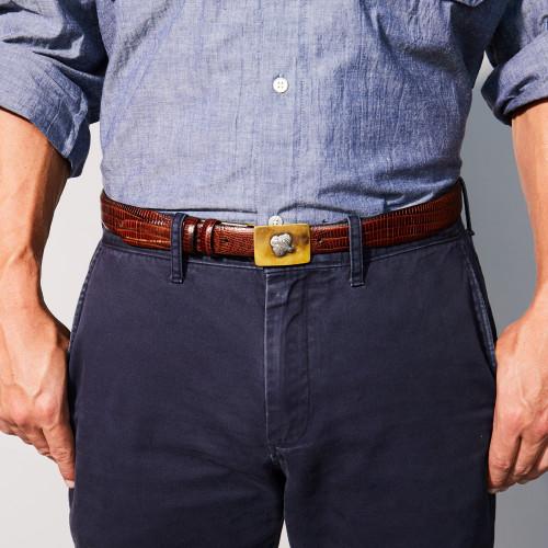 Quail Belt Buckle & Belt by Grainger McKoy