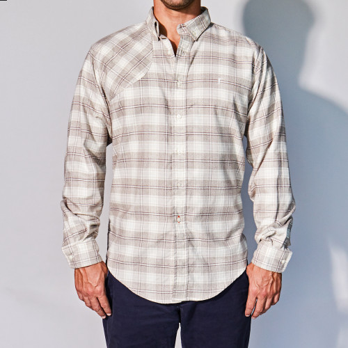 Tan Shooting Shirt by Ball and Buck