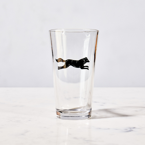 Fox Pint Glass by Garden & Gun