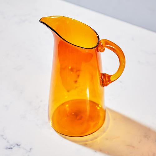 Amber Pitcher by Terrane Glass