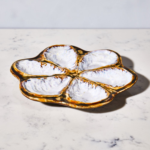 Traditional Oyster Platter by AE Ceramics