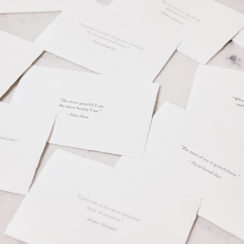 Gratitude Place Cards by Scriptura